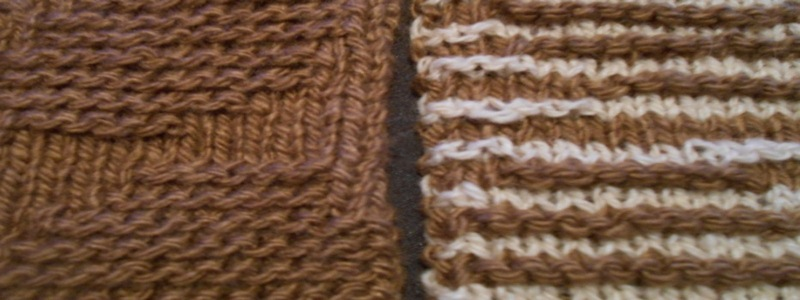 Differences between illusion and shadow knitting
